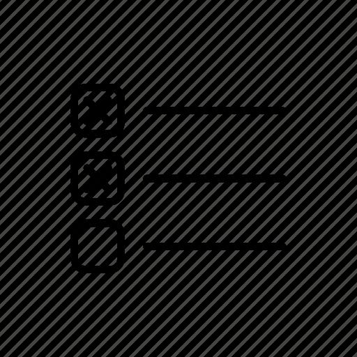 agenda, check list, list, task, task list, tasks, to do icon