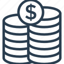 budget, cash, charity, coins, finance, money, payment icon