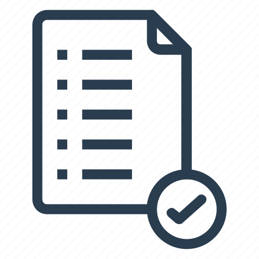 check, clipboard, document, file, notepad, text, verify icon