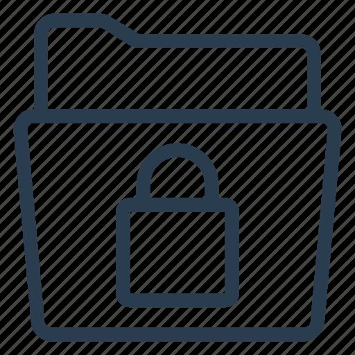 edit, files, folder, lock, protection, security, storage icon