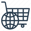 business, cart, commerce, earth, finance, global, world