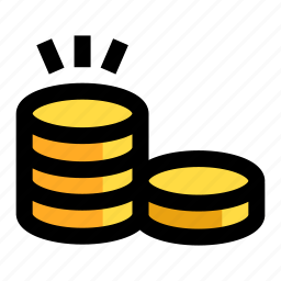 cash, coin, currency, money, profit icon