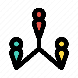 association, connection, link, organization, relationship icon