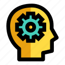 advancement, development, evolution, idea, method thinking icon
