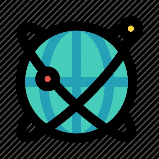 global, orbit, planet, universal, worldwide icon