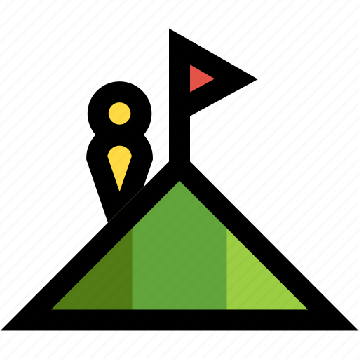 achievement, destination, goal, objective, summit icon