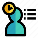 clock, duty, management, productivity, time icon