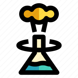chemistry, experiment, flask, research, study icon