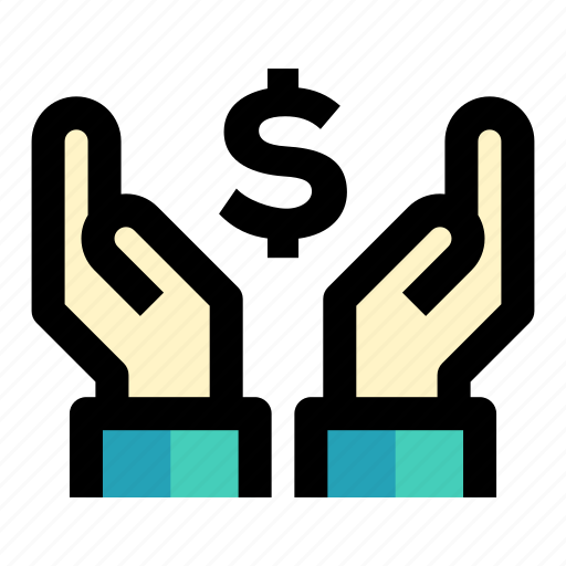 business and finance, currency, hands and gestures, investment, savings icon