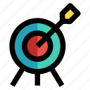 arrow, bullseye, mark, objective, target icon