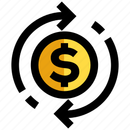 business cycle, commerce, dollar, payment, transaction icon