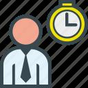 clock, executive, hour, man, time