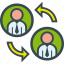 change, head, hunter, interaction, positioning icon