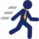 business, career, fast, man, run, runner icon