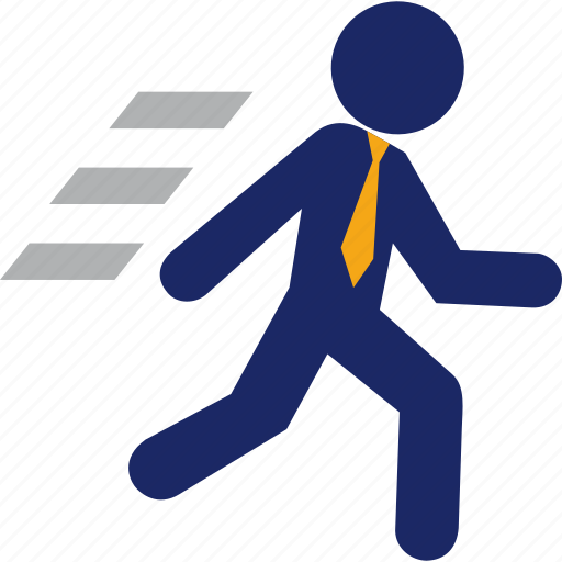 business, career, fast, man, run, runner icon