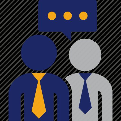 advice, business, guidance, man, talk icon