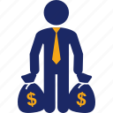 bag, business, money, profit, profitability icon