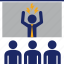 angry, boss, business, fury, meeting, presentation, team icon