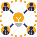 brainstorm, brainstorming, bulb, business, creative, idea, team icon