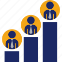 business, employees, graph, office, position, statistics icon