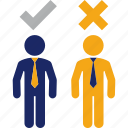 executive, head, hunter, job, selection icon
