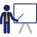 board, business, chalkboard, presentation, teacher, training icon