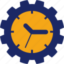 clock, day, job, occupation, time, work, worker icon