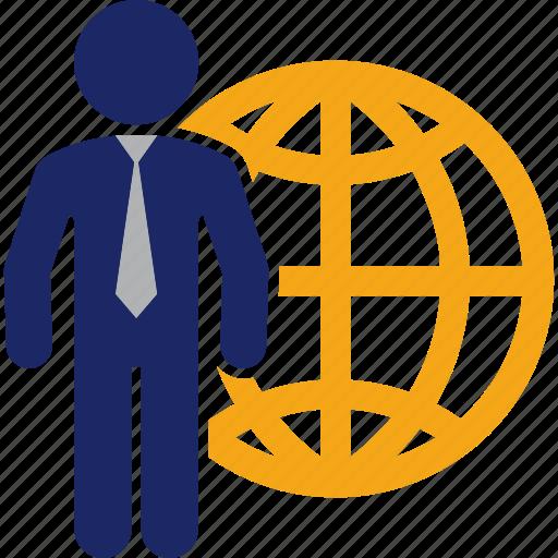 Business, international, man, travel, traveler, world icon - Download on Iconfinder
