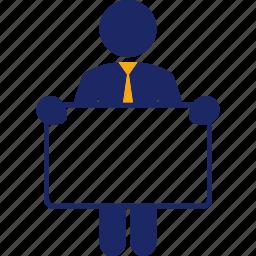 board, business, man, person, signal icon