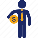 administration, business, cash, dollar, finance, money icon