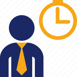 clock, executive, hour, male, man, schedule, time icon