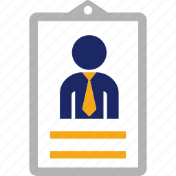 business, card, employee, id, man, person icon