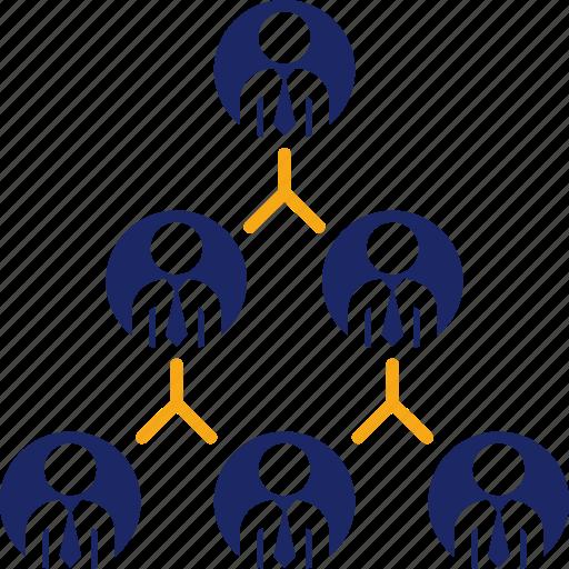 chart, graph, organization, pyramid, structure icon
