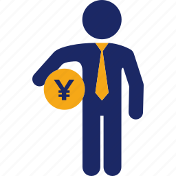 administration, business, cash, finance, money, yen icon