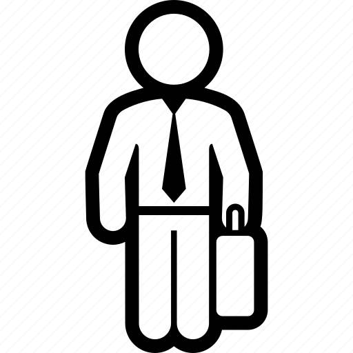 business, man, suitcase icon