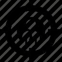 headhunter, target, aim, recruitment, businessman, crossair icon