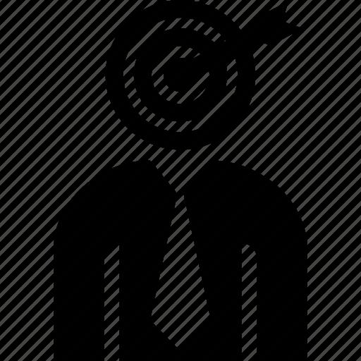 arrow, businessman, headhunter, recruitment, target icon