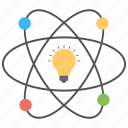 bulb in atom, innovation, inspiration, potential, scientific idea icon
