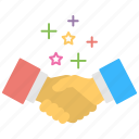agreement, business deal, business handshake, corporate business, partnership icon