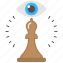 business ambition, challenge monitoring, chess game, strategic vision, target planning icon