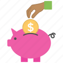 banking concept, investment, money saving, piggy bank, saving icon