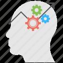 human capability, intelligence analysis, mental growth, mind progress, performance management icon