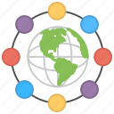 global connectivity, global network, international connection, worldwide communication, worldwide community icon
