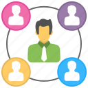 employees, lower position, subordination, subservience, working team icon