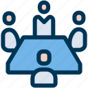 business, meeting, teamwork icon