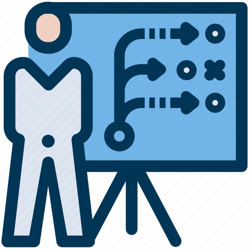 business, presentation, solution icon
