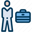 briefcase, business, businessman icon