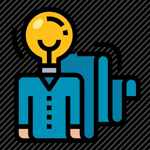 creative, idea, person, position icon