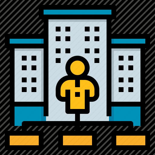 corporate, management, organization, resources icon