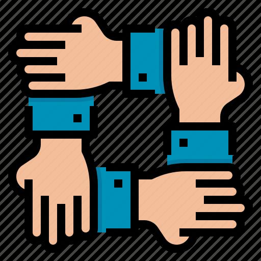 deal, hand, handshake, partner icon